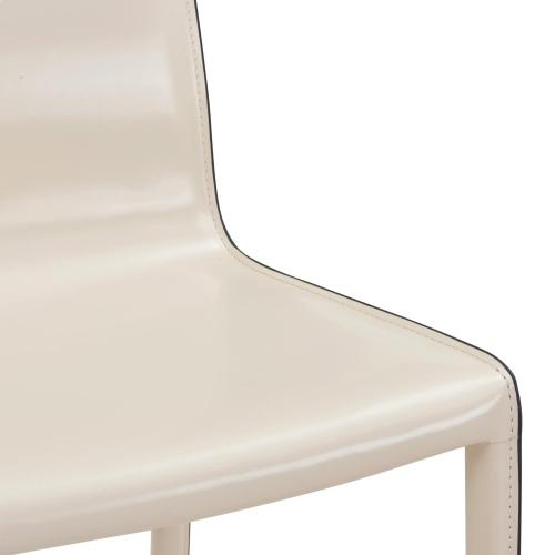 Gervin Recycled Leather Chair, Vanilla