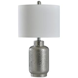 SELENA SILVER  22in X 12in  Hammered Silver Traditional Table Lamp