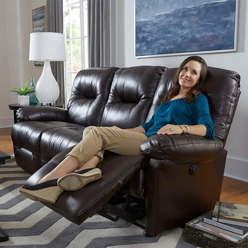 Zaynah Genuine Leather Reclining Sofa