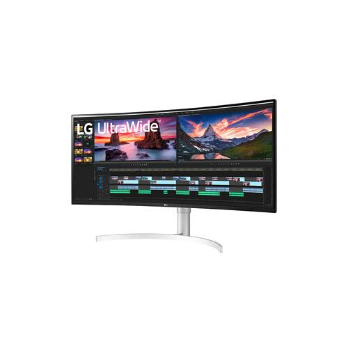 """LG - 38"""" QHD+ Nano IPS Curved UltraWide™ Monitor (3840x1600) with Thunderbolt™ 3 port, 1 ms Response Time, 144 Hz Refresh Rate, DisplayHDR™ 600, Black Stabilizer & Dynamic Action Sync"""