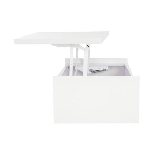 Kinsley Lift - Top Coffee Table - White / Chrome