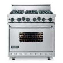"Graphite Gray 36"" Open Burner Dual Fuel Range - VDSC (36"" wide range with six burners, single oven)"