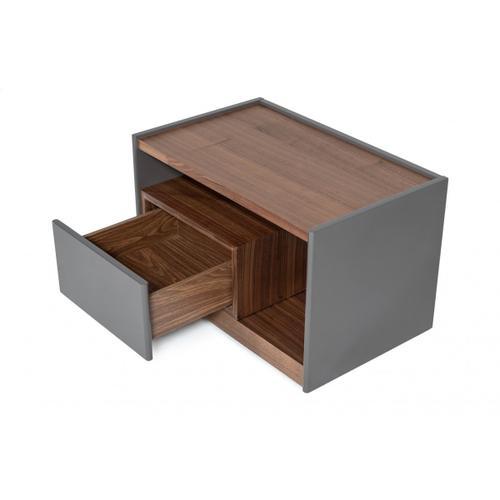 Modrest Tara - Modern Walnut Nightstand