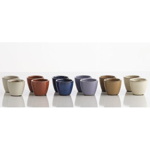 Mineral Miniature Garden Pot assrtmnt (6 colors/mix 6ea 36pc ttl)