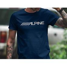 Men's Alpine Navy Short Sleeve Crewneck Logo Tee