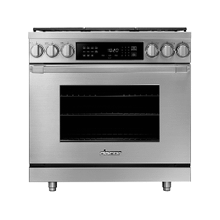 "36"" Dual Fuel Pro Range, Silver Stainless Steel, Liquid Propane/High Altitude"