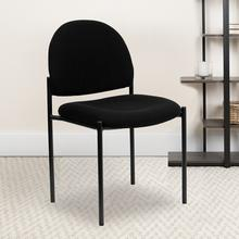 View Product - Comfort Black Fabric Stackable Steel Side Reception Chair