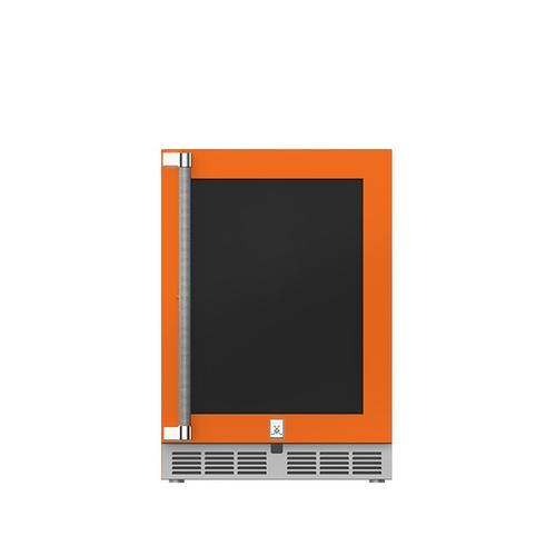 "24"" Hestan Outdoor Dual Zone Refrigerator with Wine Storage (UV-Coated Glass Door) - GRWG Series - Citra"