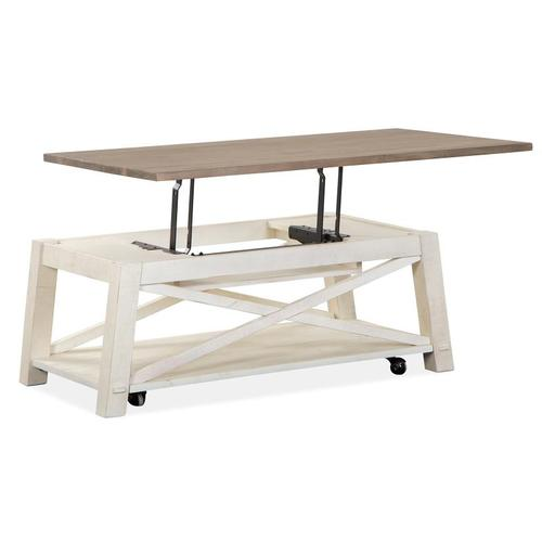 Magnussen Home - Lift Top Storage Cocktail Table w/Casters