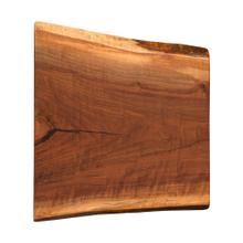 See Details - Live Edge End Table Top, Walnut with Epoxy #17 Natural - FLLIV-03-019-W17