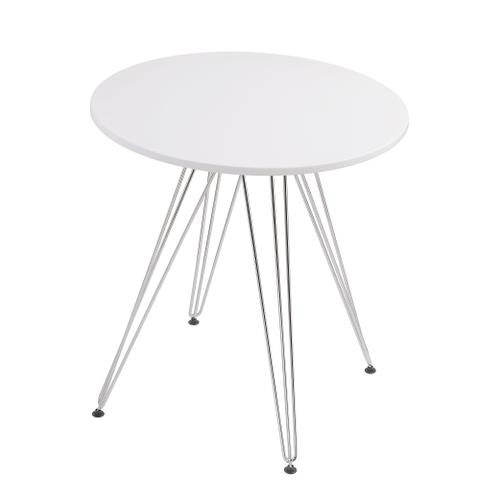 Audrey Round Dining Table, White D119-10-27wht