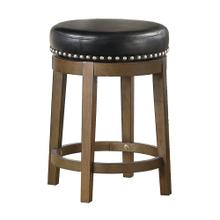 Round Swivel Counter Height Stool, Black