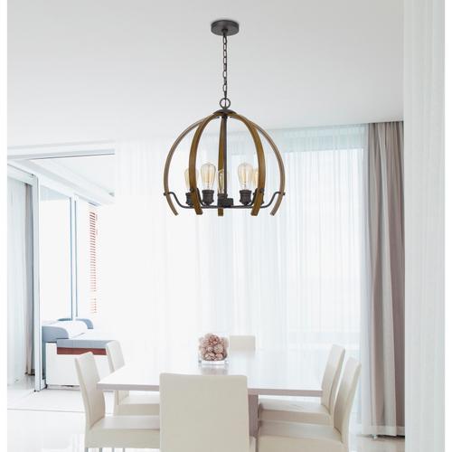 60W x 5 Riverton metal chandelier