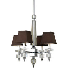 AF Lighting 7476 Four Light Chandelier- Chocolate Shades, 7476-4H