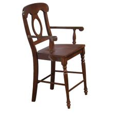 See Details - Napoleon Barstools w/Arms - Chestnut (Set of 2)