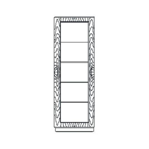 Santos rosewood display cabinet - high sheen (Left hand opening)