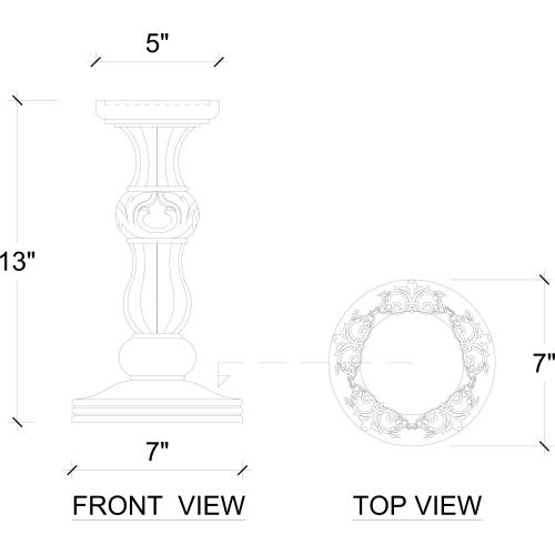 Empire Ring Candlestick Small