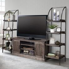 GATEHOUSE Console w/ Pair of Etagere Bookcase Piers