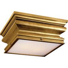 Visual Comfort CHC4215AB E. F. Chapman Square Fl 2 Light 14 inch Antique-Burnished Brass Flush Mount Ceiling Light