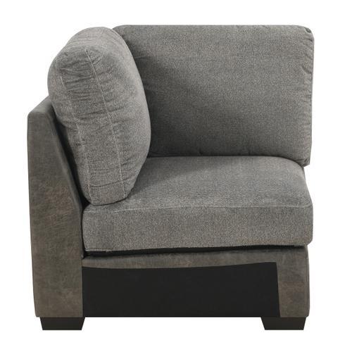 Berlin Modular Corner Chair, Gray Herringbone & Sanded Microfiber U4551-14-03
