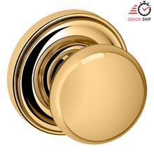 See Details - Lifetime Polished Brass 5000 Estate Knob with 5048 Rose