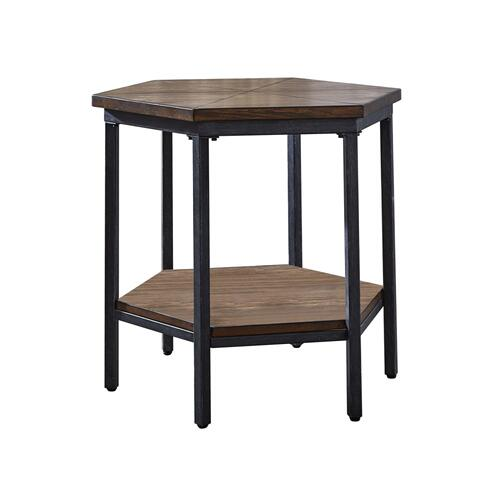Ultimo Hexagon Lift-Top Cocktail Table w/Casters