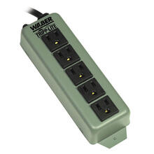 Tripp Lite Waber Industrial Power Strip, 5-Outlet, 6-ft. Cord, Switchless