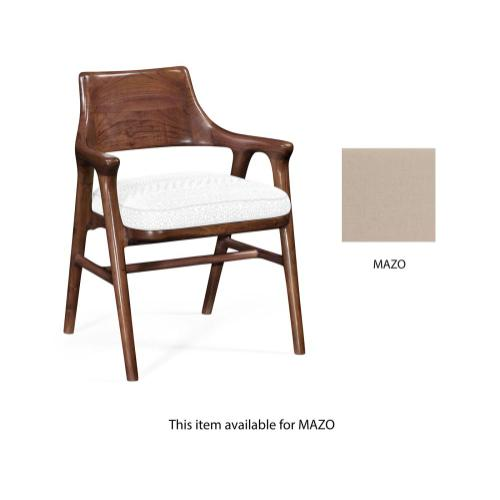 Desk chair upholstered in Mazo