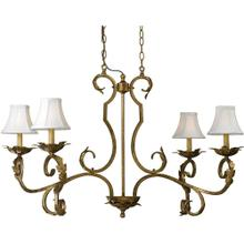 AF Lighting 6735 4-Light Chandelier, 6735-4H