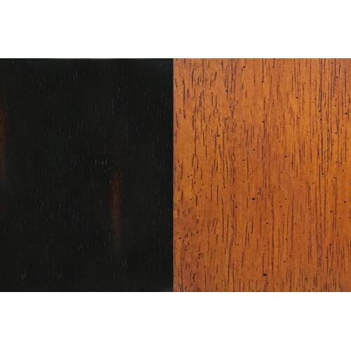 "Swivel Barstool - Antique Black and Cherry (30"")"