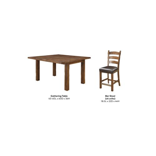 Chambers Creek Gathering Height Dining Set, Rustic Pine D412-13-05-5pcset-k