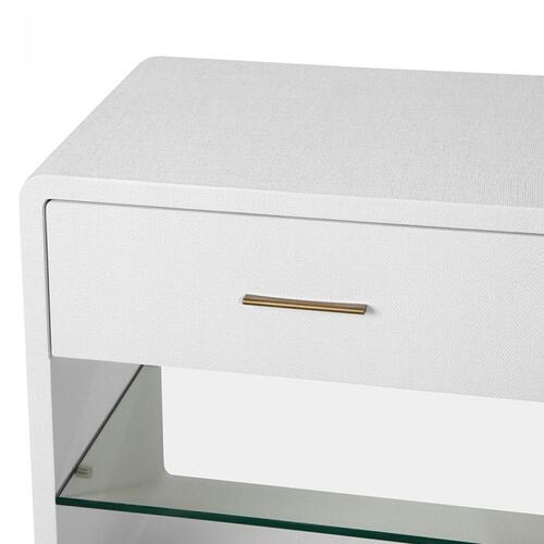 Alma Bedside Chest - White
