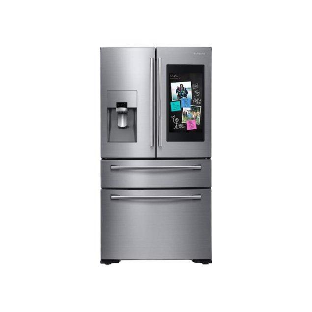 Samsung Appliances 22 cu. ft. Family Hub™ Counter Depth 4-Door French Door Refrigerator in Stainless Steel