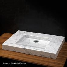 """Vessel or vanity top Bathroom Sink made of natural stone, no overflow. Unfinished back. 27 1/2""""W x 17 3/4""""D x 3""""H, no faucet holes"""