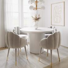 View Product - Gardenia Light Grey Velvet Dining Chair