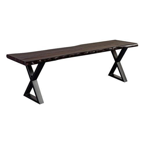Porter International Designs - Manzanita Midnight Bench with Different Bases, VCS-BN60M