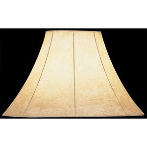 "Faux Leather Bell Shade - 7""tx18""bx12""sl"