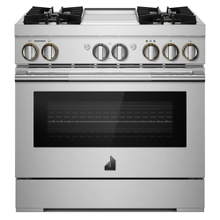 """See Details - NOIR™ 48"""" Dual-Fuel Professional-Style Range with Chrome-Infused Griddle and Steam Assist"""