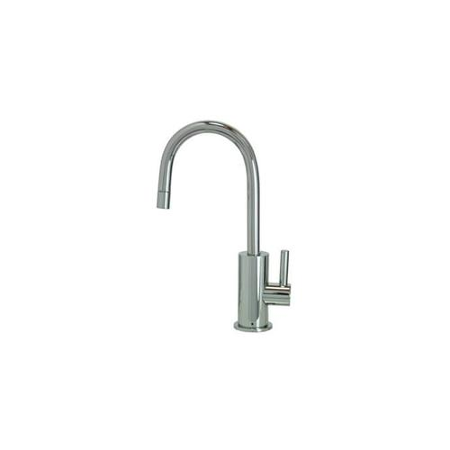 Point-of-Use Drinking Faucet with Contemporary Round Base & Handle - Champagne Bronze