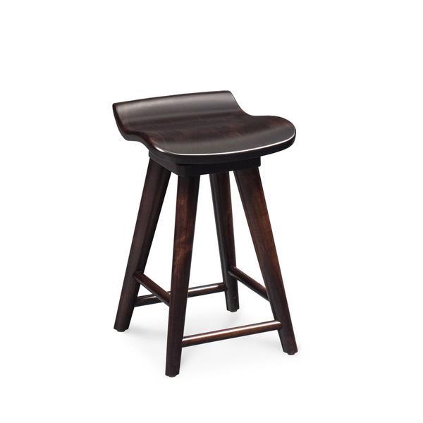 "Mason Swivel Barstool, 24""h, Wood Seat"