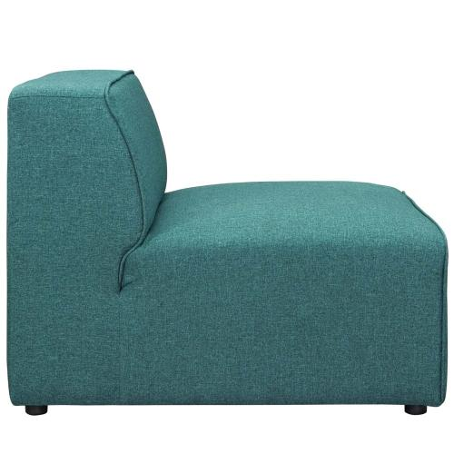 Mingle Fabric Armless in Teal
