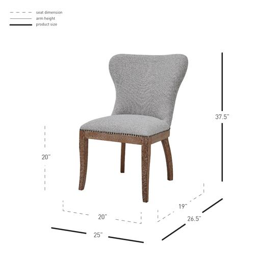 Product Image - Dorsey Fabric Dining Side Chair Drift Wood Legs, Cardiff Gray