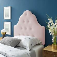 Sovereign Twin Diamond Tufted Performance Velvet Headboard in Pink