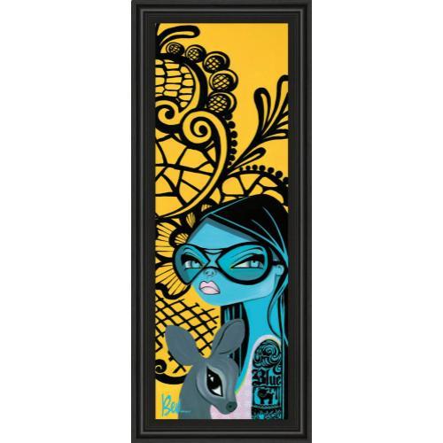 """Classy Art - """"Ink Chiffon Il"""" By Bev Hogue Framed Print Wall Art"""