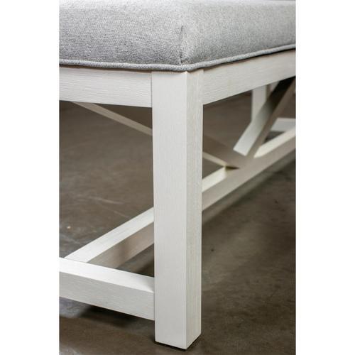 Riverside - Osborne - Upholstered Dining Bench - Winter White Finish