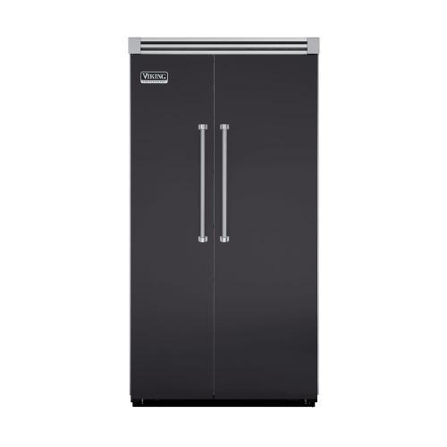 "Viking - Graphite Gray 42"" Side-by-Side Refrigerator/Freezer - VISB (Integrated Installation)"