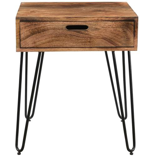 Jaydo Accent Table in Natural Burnt