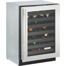 "U-Line 3024WCS00     Stainless Right-hand Modular 3000 Series / 24"" Wine Captain® / Digitally controlled single-zone convection cooling system"