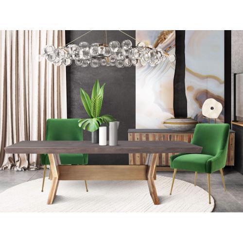 Beatrix Green Velvet Side Chair