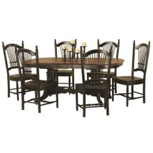 DLU-TCP4284-C07-AB7PC  7 Piece Double Pedestal Trestle Butterfly Leaf Dining Set  Allenridge Chairs
